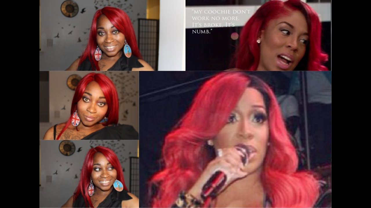 K Michelle Red Hair RED WIG K Michelle Sexy