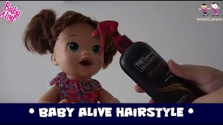 Baby Alive Makeup and Hair Brushing Learning Video for Girls