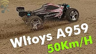 Wltoys A959 Rc Car 50Km/H 1/18 2.4Gh 4WD Off-Road : Unboxing & Review