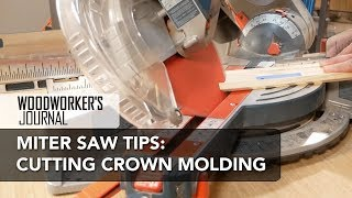 Using a Miter Saw to Cut Crown Molding