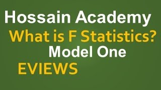 What is F statistics in Eviews ?