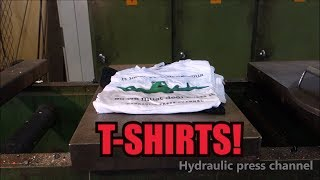 Doing laundry with hydraulic press and liquid nitrogen