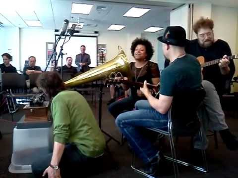 Dwight & Nicole record to wax live at The New England Institute of Art Brookline, MA 3/23/12