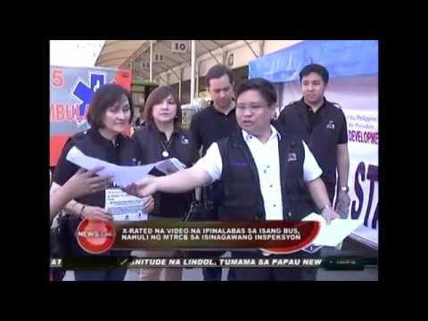 Isang bus ang nahuli na nagpapalabas ng mga X-Rated movies sa ginawang random inspection ng MTRCB.