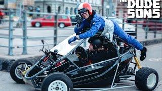 CASEY NEISTAT Duct Taped To A Racecar in HELSINKI, FINLAND