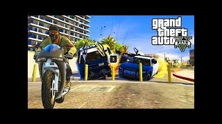 GTA 5 -  Grand Theft Auto V \\ The  police chase \\ funny game-play