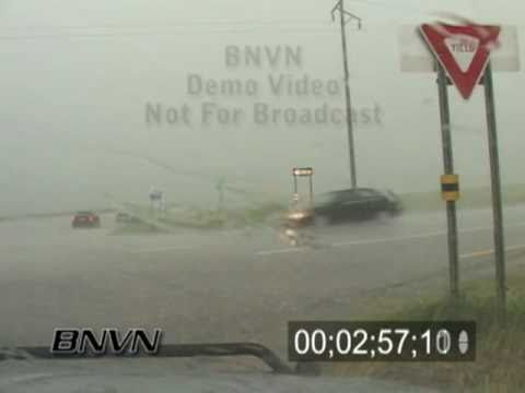 6/24/2006 Hail Storm Video While Driving. Dash Camera