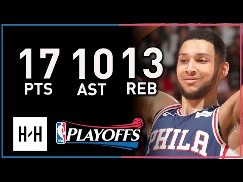 Ben Simmons Triple-Double Full Game 4 Highlights vs Heat 2018 Playoffs - 17 Pts, 13 Reb, 10 Ast!
