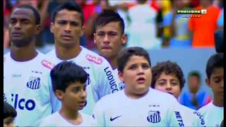 Neymar in tears before final Santos game v Flamengo