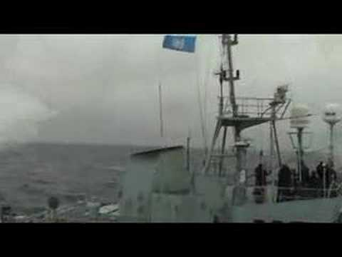 Sea Shepherd Attacks Japanese Whaling fleet.  Feb 09, 2007/D