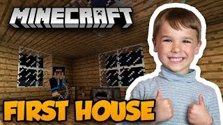 MY FIRST HOUSE EVER in MINECRAFT SURVIVAL MODE