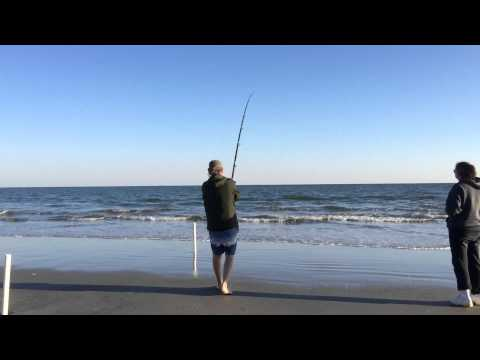 North Myrtle Beach S.C. USA Surf Fishing