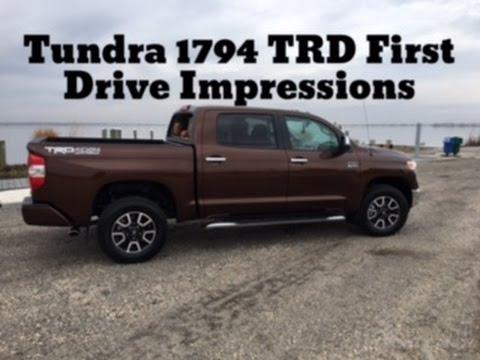 2017 Toyota Tundra 1794 TRD: First Drive Impressions