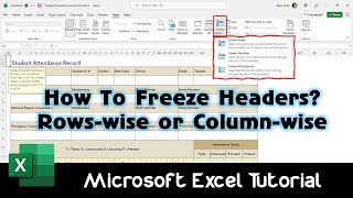 How To Freeze Rows and Columns Using Freeze Panes | Microsoft Excel 2016 Tutorial