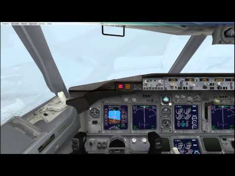 Boeing FSX Jet Airways Landing Trivandrum Bad weather
