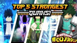 TOP 5 STRONGEST QUIRKS!|My Hero Bizarre Adventures|Roblox