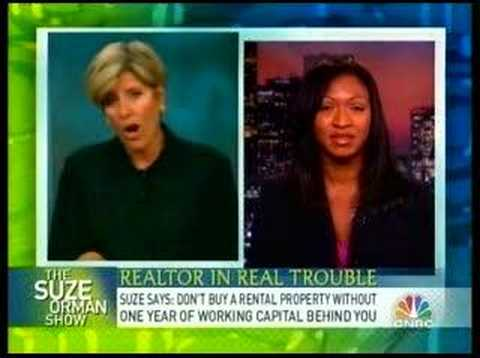 Suze Orman speaks to strapped realtor