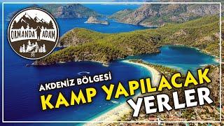Antalya Bölgesi Kamp yapılacak yerler
