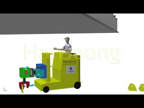 LUG FIT UP MACHINE / SHIPYARD / SHIPBUILDING / AUTOMATION / HanJoong