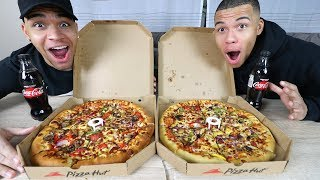AMERICAN vs. BRITISH Pizza Hut Food