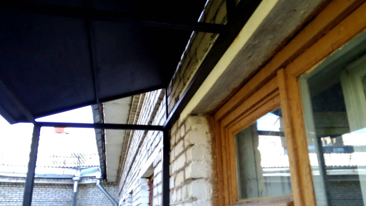 Открытый балкон в сталинке. установка козырька. реставр... d.