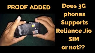 Does 3G phones Supports Reliance Jio SIM or not?? Find the answer in this Video with full proof