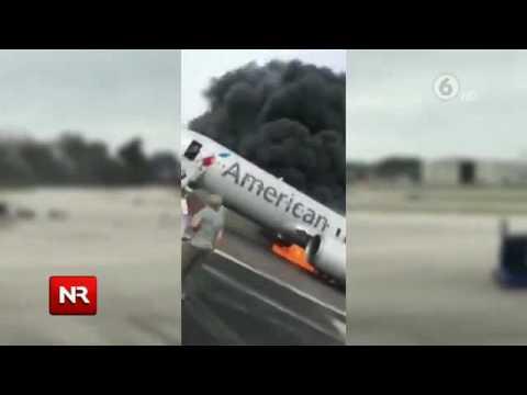 Video muestra pánico en avión que se incendió en aeropuerto de Chicago