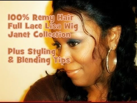 100% Remy Hair Full Lace Lisa wig by Janet Collection Review ~ Plus Styling Tips ℒℴѵℯ