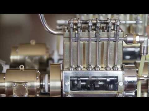 The man behind the smallest V-12 engine in the world (English subtitles)