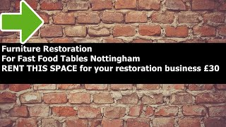 Furniture Restoration For Fast Food Benches Nottingham - furniture restoration for fast food benches