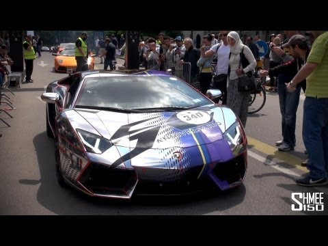 The Start of the Lamborghini 50th Anniversary Grand Giro Tour