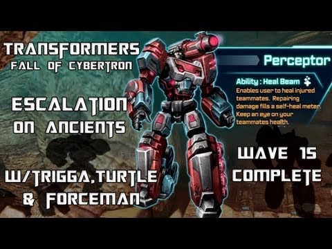 Transformers Fall of Cybertron - Escalation on Ancients w/ Perceptor (Wave 15 Complete)