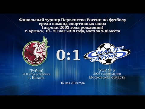 Голы матча команды 2003 г.р. 16 мая 2018 год.