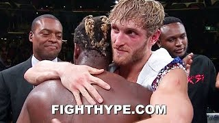 KSI & LOGAN PAUL BURY THE HATCHET; EMBRACE AND SHOW RESPECT AFTER GRUDGE FIGHT