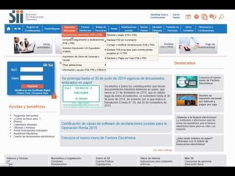 Cómo Pagar El F Desde El Portal Del Sii Por Internet Con Formulario Ya Ingresado.