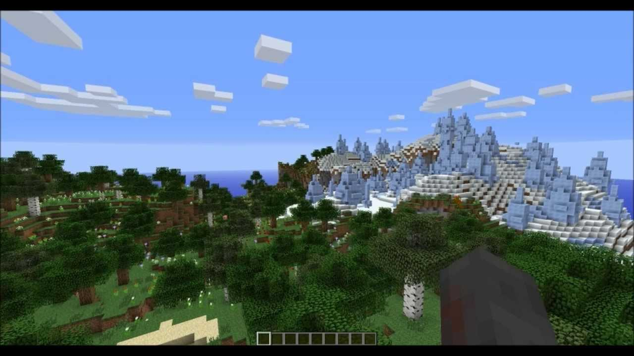 Most Beautiful Minecraft 17 Seed Ice Spike And Flowered