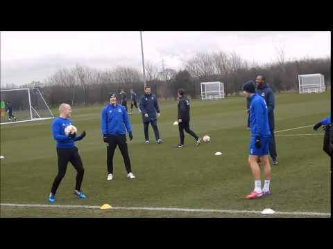 Everton FC players train ahead of Europa League visit of BSC Young Boys