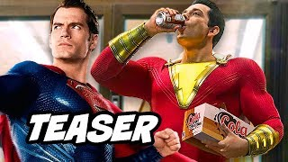 Justice League Shazam First Look Teaser and Comic Con Trailer Details Explained