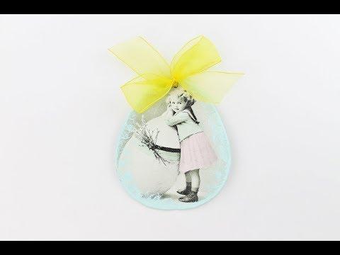 Decoupage Clay Easter Egg - Clay Das - Decoupage Tutorial - DIY