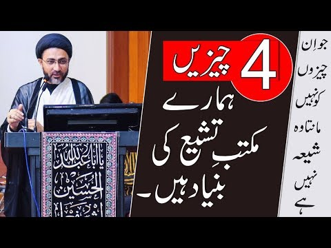 4  چیزیں ہمارے  مکتب تشیع کی بنیاد  ہیں۔  |علامہ سید شہنشاہ حسین نقوی