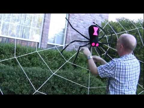 Halloween Decorations Spider Web Make Giant Halloween Spider Web