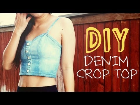 DIY Upcycled Denim Crop Top