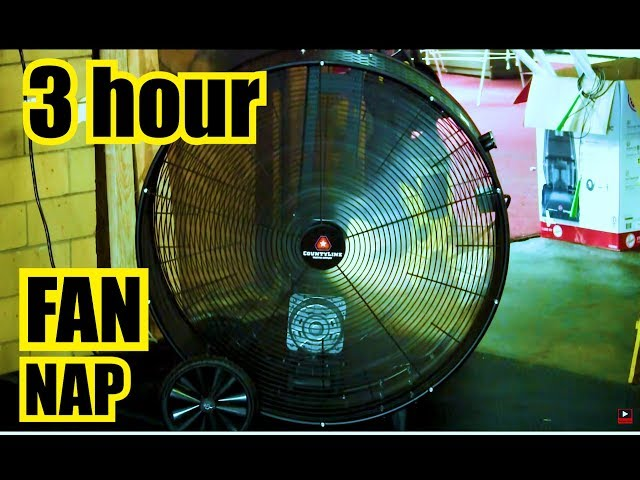 5 FOOT TALL FAN !  3 Hours of Relaxation & White Noise ~ Sleep ~ Box Fan Sound