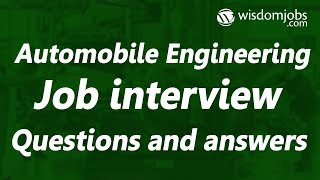TOP 250+ Automobile Engineering Interview Questions and Answers 2019
