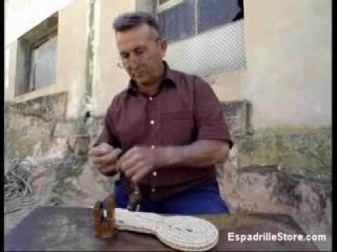 The art of sewing the soles of the espadrilles in Spain - Alpargatas suelas -