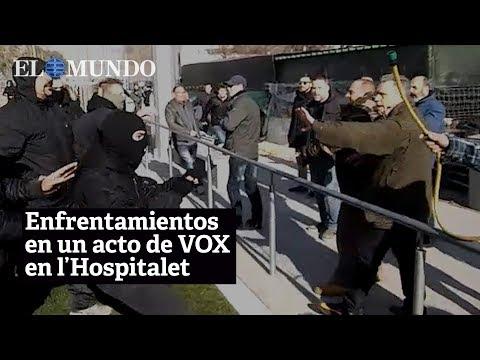 Enfrentamientos en un acto convocado por Vox en L'Hospitalet