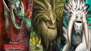 Dragons: Rise of Berk - BEWILDERBEAST/GREEN DEATH/FOREVERWING - (How to train your Dragon 2)