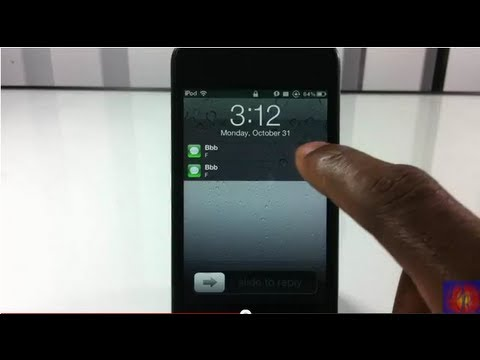How To Clear Lockscreen Notifications Without Unlocking iPhone. iPod Touch. iPad