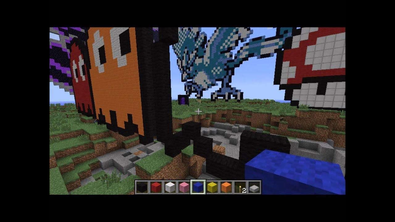 Pacman Pixel Art Minecraft Minecraft Tutorial-pixel Art