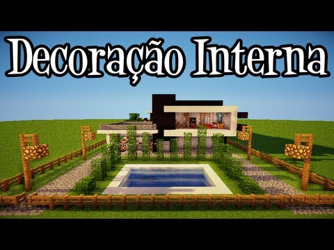 Tutoriais Minecraft: Decoração Interna da Casa Moderna 4